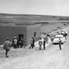 People touring Great Western Reservoir in the mid to late 1950's.<br /> <br /> <br /> photo courtesy of Depot Hill Museum
