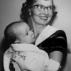 First baby born in Broomfield, Richard L. Lisk, with his mother. undated photograph.<br /> <br /> photo courtesy of Depot Hill Museum