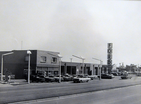 The expanded Sill Terhar Ford dealership in the late1960's.<br /> <br /> <br /> courtesy of Sill Tehar Motors