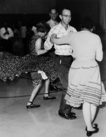Turnpike Twirlers John and Mabel Bennett dancing in 1966.<br /> <br /> courtesy of the Depot Hill Museum