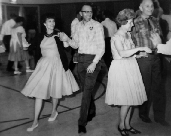 Turnpike Twirlers Karrie Main and John Bennett dancing in 1966.<br /> <br /> courtesy of the Depot Hill Museum