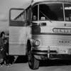 Broomfield bus stop in 1955.<br /> <br /> photo courtesy of the Depot Hill Museum.