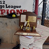 The Loveland's state 5A championship trophy sits in the dug out after Saturday's state 5A softball championship game against Dakota Ridge at Aurora Sports Park.<br /> <br /> October 20, 2012<br /> staff photo/ David R. Jennings