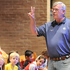 Broomfield Mayor Pat Quinn gives a brief talk on probabilities to students during Math Camp held at the United Methodist Church.<br /> <br /> August 7, 2009<br /> staff photo/David R. Jennings