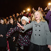 Ramona Allen Bruno, 9, left, and Addis Daybill, 10, sign with the Mountain View  Sign Language Choir during the Mayor's Tree Lighting Ceremony at the George Di Ciero City and County Building on Friday.<br /> December 7, 2012<br /> staff photo/ David R. Jennings