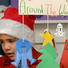 Devin Aragon wears a Santa hat during the 5th grade Winter Celebrations event on Thursday at Meridian Elementary School.<br /> December, 2010<br /> staff photo/David R. Jennings