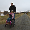 Lila Huffer, 7, and her father Noah tour the Metzger Farm Open Space after it was officially open to the public on Saturday.<br /> November 10, 2012<br /> staff photo/ David R. Jennings