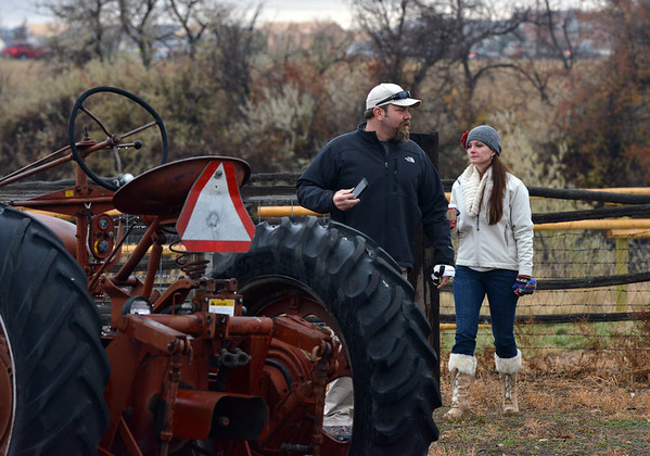 Katy Scott, right, the daughter of Karen Metzger looks around the family's farm with her husband Craig before the opening ceremony of the Metzger Farm Open Space on Saturday.<br /> November 10, 2012<br /> staff photo/ David R. Jennings