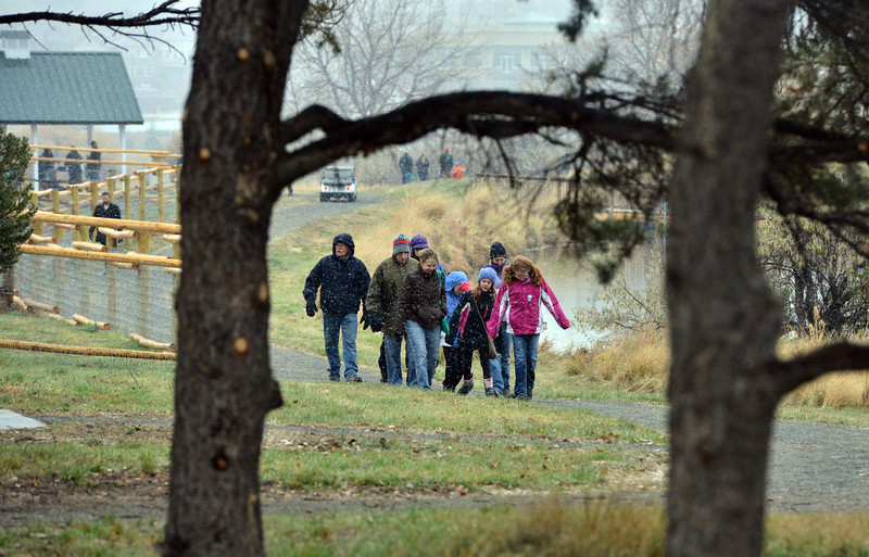 People tour the Metzger Farm Open Space after the opening ceremony on Saturday.<br /> November 10, 2012<br /> staff photo/ David R. Jennings