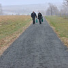 Two people walk a path of the Metzger Farm Open Space after it was opened to the public on Saturday.<br /> November 10, 2012<br /> staff photo/ David R. Jennings
