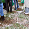Snow lands on the grass around people during the opening ceremony for the Metzger Farm Open Space on Saturday.<br /> November 10, 2012<br /> staff photo/ David R. Jennings