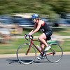 April Smith rides down Lamar St. for the bicycling stage of the Mini Haha Triathlon at the Broomfield Community Center.<br /> June 8, 2012 <br /> staff photo/ David R. Jennings