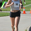 Allison Dutton runs up the hill to the finish line at the Broomfield Community Center for the Mini Haha Triathlon.<br /> June 8, 2012 <br /> staff photo/ David R. Jennings
