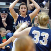 Legacy's Jenna Fenton looks for an open player during Friday's game against Monarch at Monarch High.<br /> February 15, 2013<br /> staff photo/ David R. Jennings