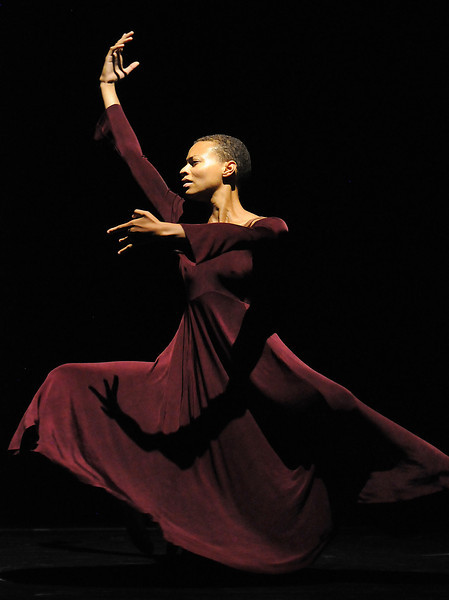 """Cleo Parker Robinson Dance dancer Cecelia Jones rehearses """"Nine Ninas: What More Can I Say?"""" for the performance of Moving Together, a cause for dance, a benefit for Ballet Nouveau Colorado for Thursday's performance at the Pinnacle Charter School arts complex. <br /> July 27, 2010<br /> Staff photo/ David R. Jennings"""