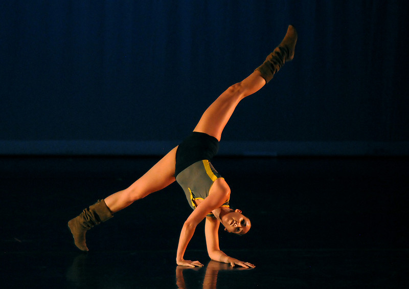 """BNC company dancer Meredith Strathmeyer rehearses """"Bang Bang"""" for Moving Together, a cause for dance, a benefit for Ballet Nouveau Colorado for Thursday's performance at the Pinnacle Charter School arts complex. <br /> July 27, 2010<br /> Staff photo/ David R. Jennings"""