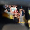 Simone Ruckman, 6, watches the extrication demonstration during National Night Out at County Commons Park on Tuesday.<br /> <br /> <br /> August 4, 2009<br /> staff photo/David R. Jennings