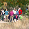 Families stop to look at nature items during the Broomfield Nature Program at Josh's Pond on Wednesday.<br /> October 5, 2011<br /> staff photo/ David R. Jennings