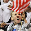 Jack Connelly waves the flag as astronaut Neil Armstrong during the Meridian Elementary School third grade Night of the Notables on Wednesday. Connelly made his own costume for the event.<br /> <br /> May 5, 2010<br /> Staff photo/ David R. Jennings