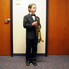 James Marr waits to answer questions as Louis Armstrong during the Meridian Elementary School third grade Night of the Notables on Wednesday.<br /> <br /> May 5, 2010<br /> Staff photo/ David R. Jennings