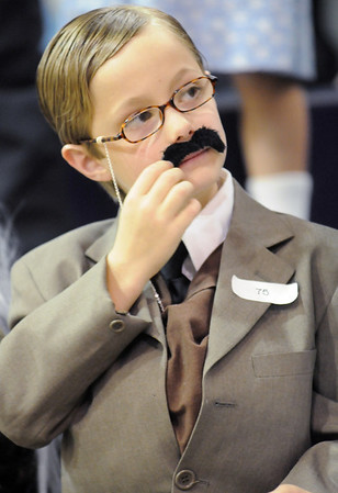 Nathan Arbuckle's notable was President Theodore Roosevelt for the Meridian Elementary School third grade Night of the Notables on Wednesday.<br /> <br /> May 5, 2010<br /> Staff photo/ David R. Jennings