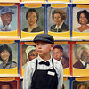 Luke Knudsen as Thomas Edison waits to answer questions in front of a wall of prominent people during the Meridian Elementary School third grade Night of the Notables on Wednesday.<br /> <br /> May 5, 2010<br /> Staff photo/ David R. Jennings