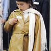 Chloe Mechin waits to reveal she's aviator Amelia Earhart during the Meridian Elementary School third grade Night of the Notables on Wednesday.<br /> <br /> May 5, 2010<br /> Staff photo/ David R. Jennings