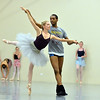 Julie King and Damien Patterson perform the dance of the Snow Queen and Snow Prince  during rehearsal for Ballet Nouveau Colorado's production of the Nutcracker on Saturday at the studio.<br /> <br /> December 1, 2012<br /> staff photo/ David R. Jennings