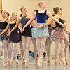 Student dancers dance en pointe in a circle for the Snow Queen during rehearsal for Ballet Nouveau Colorado's production of the Nutcracker on Saturday at the studio.<br /> <br /> December 1, 2012<br /> staff photo/ David R. Jennings