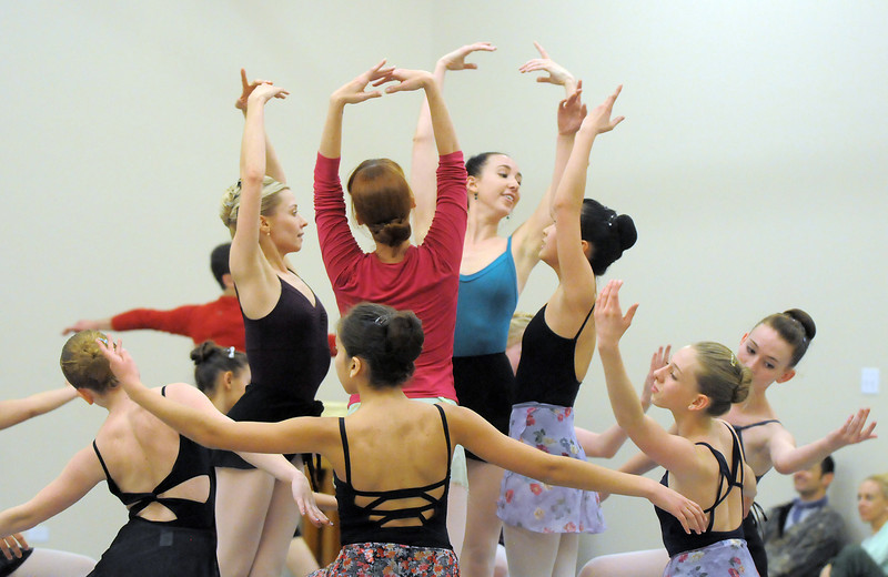 Dancers perform the Snowflake dance during rehearsal for Ballet Nouveau Colorado's Nutcracker at the studio on Saturday.<br /> <br /> November 26, 2011<br /> staff photo/ David R. Jennings