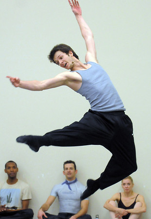 Corbin Kalinowski performs the Russian Dance during rehearsal for Ballet Nouveau Colorado's Nutcracker at the studio on Saturday.<br /> <br /> November 26, 2011<br /> staff photo/ David R. Jennings