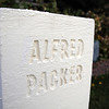 "An Alfred Packer head stone in Jim O'Dell's Halloween haunted house dubbed "" The Chilling Hour""  at 920 Coral St. on Wednesday.  <br /> October 19, 2011<br /> staff photo/ David R. Jennings"