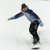 Kellie Aldridge, 17,  snowboards down a slope at Community Park on Wednesday<br /> <br /> October 28, 2009<br /> Staff photo/David R. Jennings