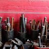 METALWORKER06<br /> Metalworking tools sit in David Norrie's studio.<br /> <br /> Photo by Marty Caivano/Camera/Dec. 30, 2009