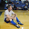 Roy Gollobith, 48, wait for his next wrestling match in the Old Timers Wrestling tournament on Saturday at Broomfield High School.<br /> <br /> <br /> March 13, 2010<br /> Staff photo/David R. Jennings
