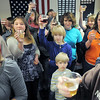 Students from Hulstrom Options School join in the toast with sparkling grape juice to celebrate the new year for the Broomfield Veterans Memorial Museum during the open house on Saturday.<br /> January 14, 2012<br /> staff photo/ David R. Jennings