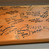 Mike Hembd signed a board, center with a heart, of people who built or will reside in the Glory Community, a private nonprofit, residential home for adults with intellectual disabilities. <br /> September 21, 2012<br /> staff photo/ David R. Jennings