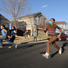 Amanda Peebles, 11, races her brother Jayden, 7, in the street after returning home from Children's Hospital where she received cord blood treatments for Lukemia that were started in October 2008. <br /> March 5, 2009<br /> staff photo/David R. Jennings