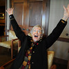 Claira Smith does the meter laugh while participating in the Laughter Yoga presentation by Tomi-Ann Roberts professor of psychlogy at Colorado College for Active Aging Week at the Stratford at FlatIrons.<br /> <br /> Sept. 24, 2009<br /> Staff photo/David R. Jennings