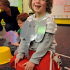 Carson Wagner is all smiles as an elephant during the deaf and hard of hearing preschool/kindergarten's Pee Wee Circus at Mountain View Elementary School on Friday. <br /> <br /> March 18, 2010<br /> Staff photo/David R. Jennings