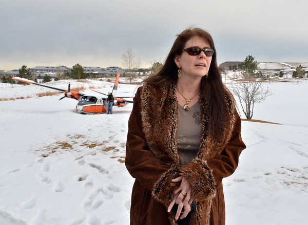 Tamara Glover witnessed the crash of a Twin Aero Commander which crash landed on the Omni Interlocken Golf Course. No injuries reported.<br /> March 1, 2013<br /> staff photo/ David R. Jennings