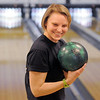 Christine Matekovic, North Metro Fire Rescue, gets advice before delivering the ball during the Police vs. Fire Bowling Tournament for A Precious Child at Chippers Lanes Bowling Alley on Sunday.<br /> April 10, 2011<br /> staff photo/David R. Jennings