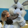 The Easter Bunny dances with Parker Graves, 2, during the Preschool Easter Party at the Broomfield Community Center on Thursday.<br /> April 5, 2012 <br /> staff photo/ David R. Jennings