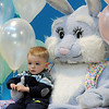 Brody Kerr, 2, sits on Flopsy the Bunny's lap for pictures during the Preschool Easter Party at the Broomfield Community Center on Thursday.<br /> April 1, 2010<br /> Staff photo/David R. Jennings