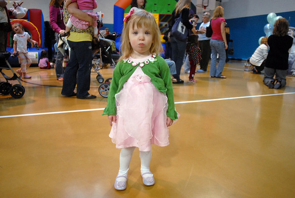 Two year old Natalie Cappelletti dressed up for the Preschool <br /> Easter Party at the Broomfield Community Center on Thursday.<br /> April 1, 2010<br /> Staff photo/David R. Jennings
