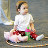 Max Rickerson, 16 months-old, sits in a hula hoop before the Preschool Yoga/Movement session taught by Sara Guenther begins at the Mamie Doud Eisenhower Public Library on Saturday.<br /> <br /> November 18, 2011<br /> staff photo/ David R. Jennings