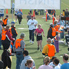 The finish line of the Race4Kids' Health 5K run at Broomfield County Commons Park on Sunday.<br /> <br /> April 11, 2010<br /> Staff photo/David R. Jennings