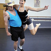 Randy Ahrens and Sophie Payannet during rehearsal for their dance which mixes country and ballet for Dancing with the Broomfield Stars at Dance Arts Studio.<br /> <br /> August 15, 2011<br /> staff photo/ David R. Jennings