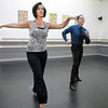 Jenifer Madson and Morris Vaccarella rehearse their  Ballroom Latin dance for Dancing with the Broomfield Stars at Dance Arts Studio.<br /> <br /> August 15, 2011<br /> staff photo/ David R. Jennings