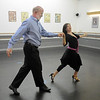 Ed Black and Courtney Duran perform the Fox Trot dance<br /> during rehearsal for Dancing with the Broomfield Stars at Dance Arts Studio.<br /> <br /> August 15, 2011<br /> staff photo/ David R. Jennings